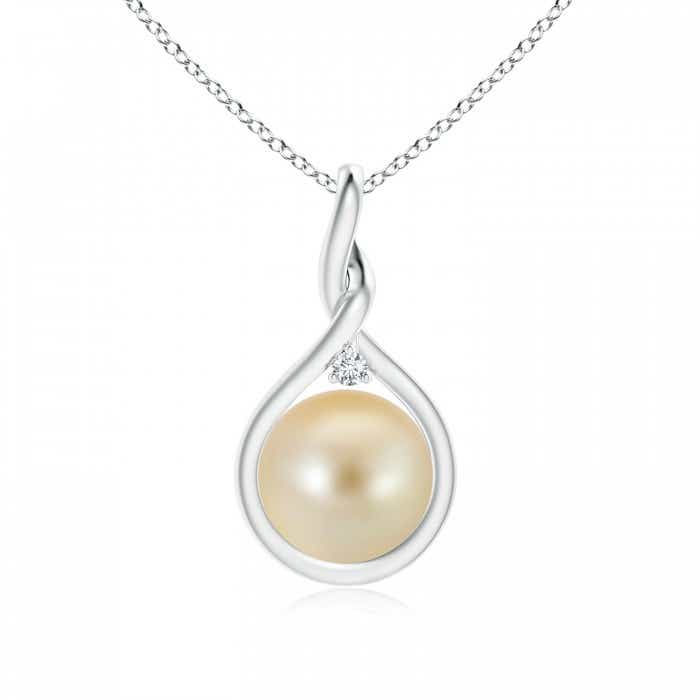 Angara Golden South Sea Cultured Pearl Pendant with Twisted Bale U8uwqx5