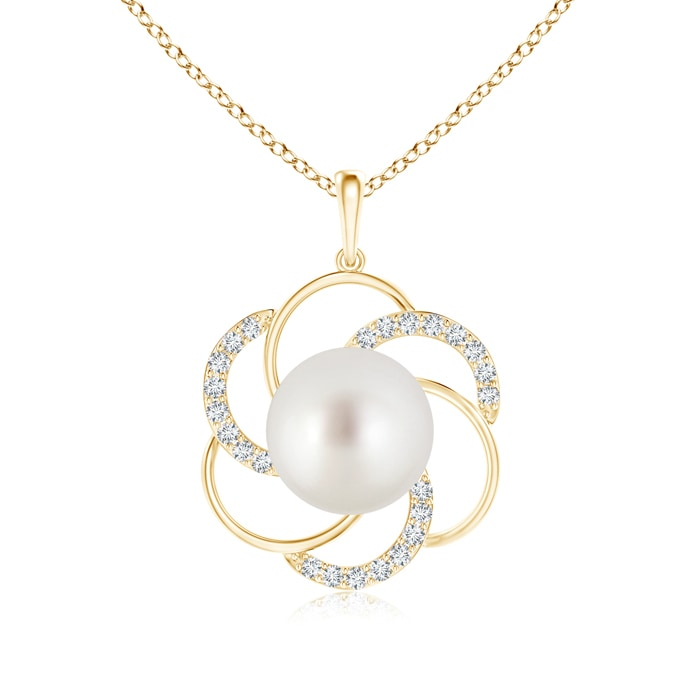 Angara South Sea Cultured Pearl Pendant with Diamond Floral Bale jsShmMXd2
