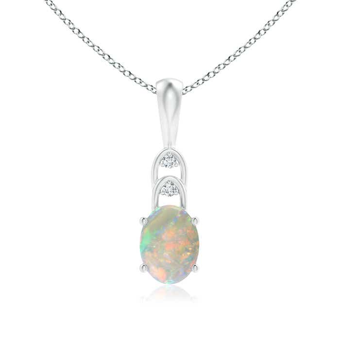 Angara Two Stone Opal Swirl Pendant in Yellow Gold XFmwAaH
