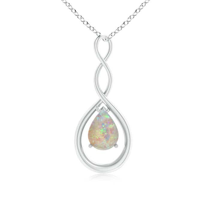 Angara Natural Opal Teardrop Pendant in Rose Gold prg4H
