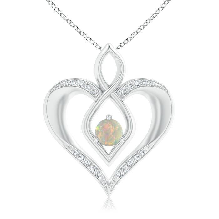 Angara Diamond Angel Heart Pendant ltnL7