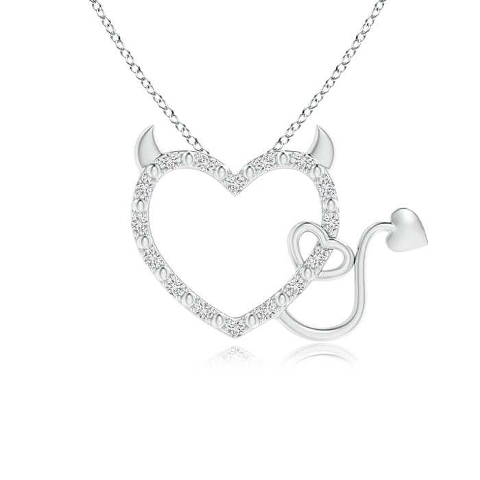 Angara Diamond Double Layered Heart Dangle Pendant bZLVGRu8