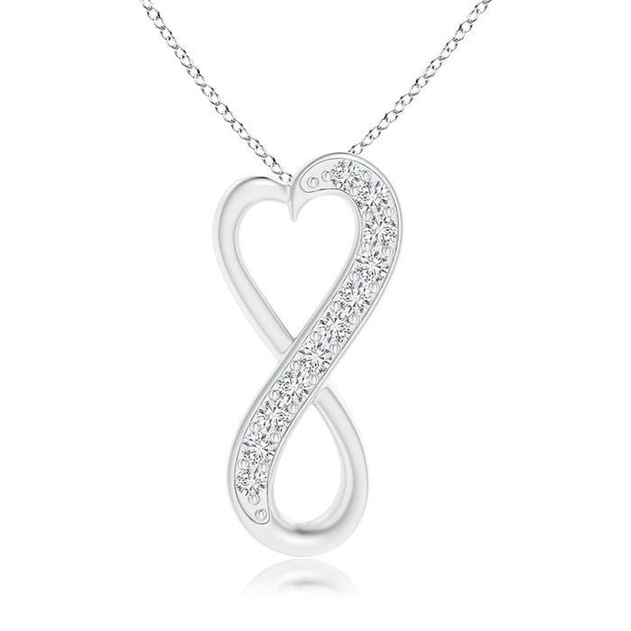 Angara Pave-Set Diamond Infinity Heart Pendant zaeukTdiVl