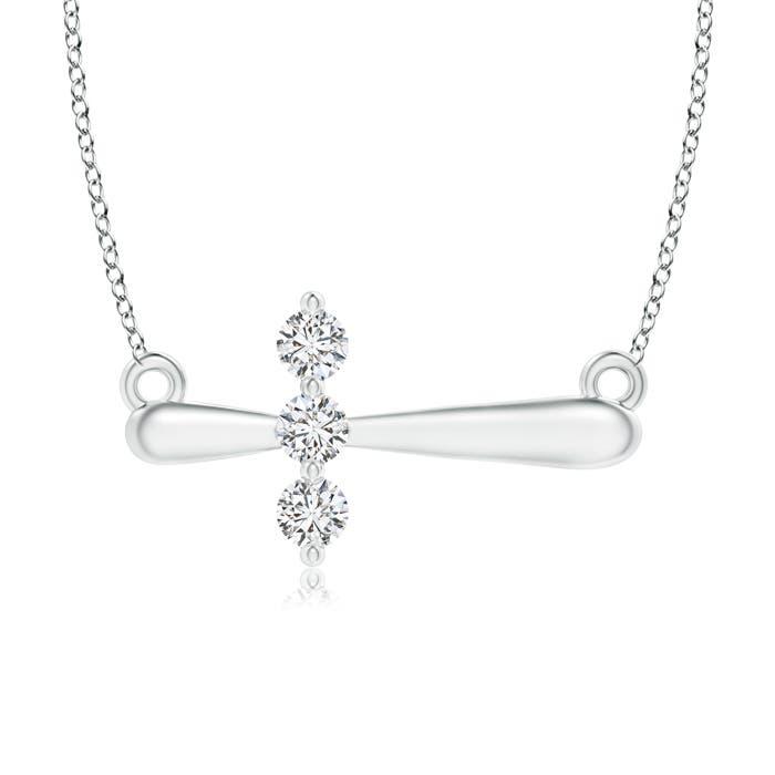 Angara Diamond Braided Cross Pendant KGSniJ9