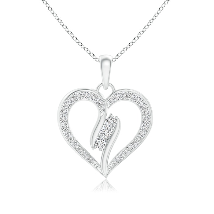 Angara Diamond Studded Crown MOM Heart Pendant IYWN0BPXya
