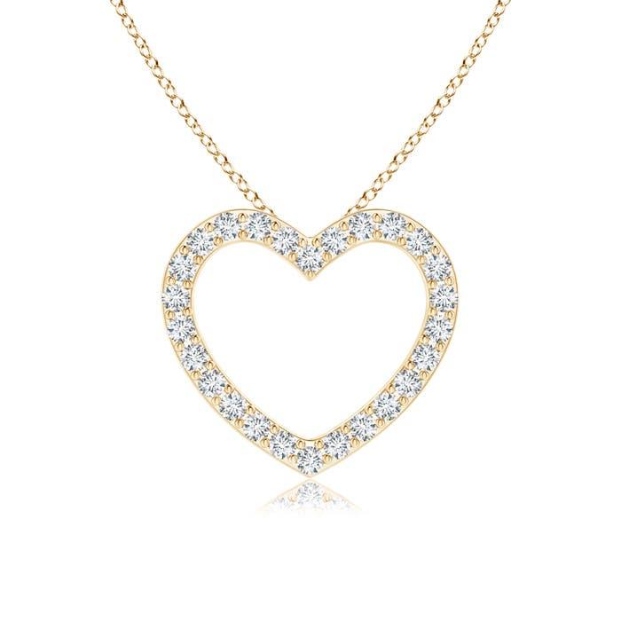 Angara Diamond Slanted Heart Dangle Pendant jHgeKeIm