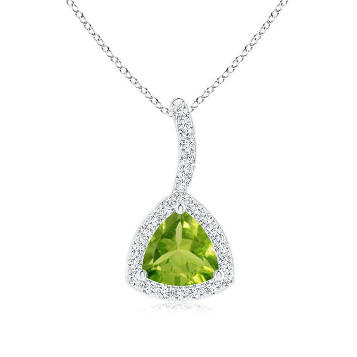 Angara Trillion Sapphire and Diamond Pendant for Women in Yellow Gold DhXTTwTM0T