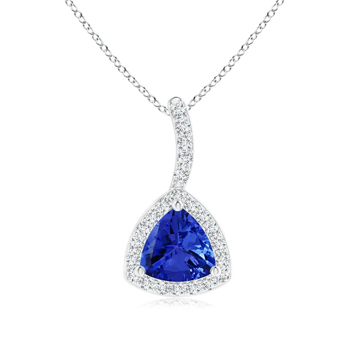 Angara Tanzanite Trillion Pendant in White Gold MygyIIBrK