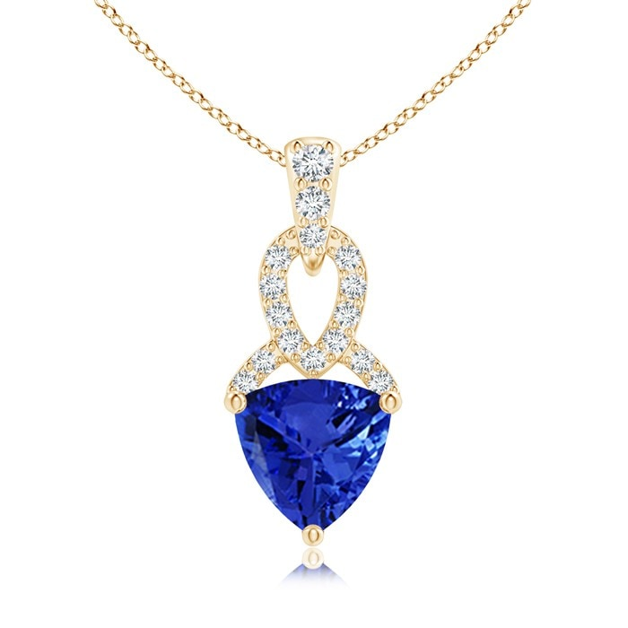 Angara Heart Tanzanite and Diamond Dangling Pendant for Women t6TZYTdt