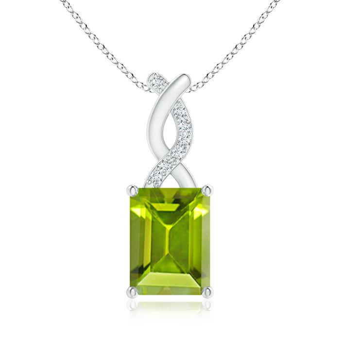 Angara Garnet Pendant with Diamond Entwined Bale oh4ka