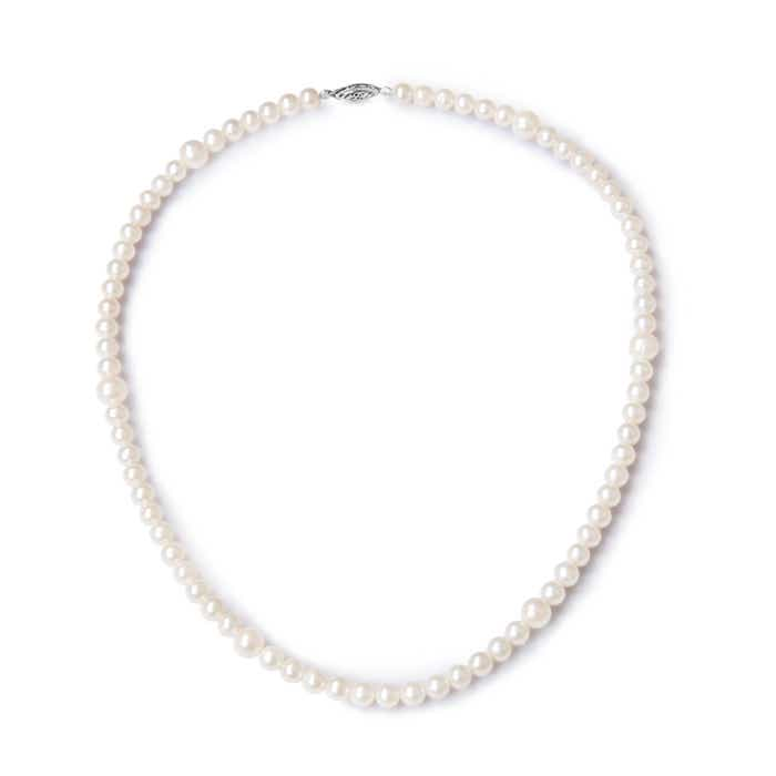 Angara 18 Single Strand Freshwater Cultured Pearl Necklace