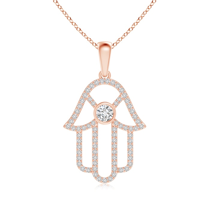 Angara Classic Diamond Cat Pendant