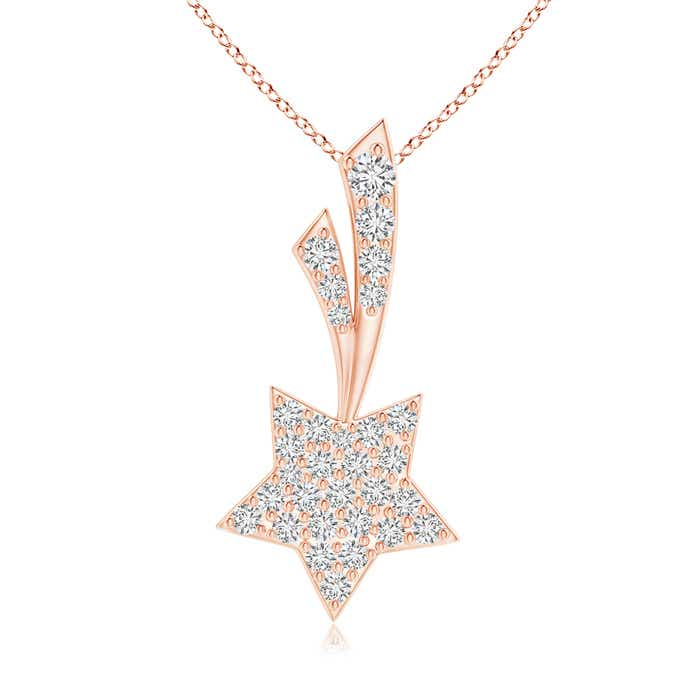 Angara Cluster Diamond Shooting Star Pendant