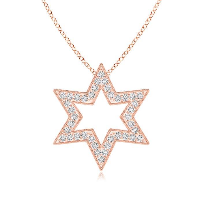 Angara Polished Star Diamond Circle Dangle Pendant yUzVFtkH