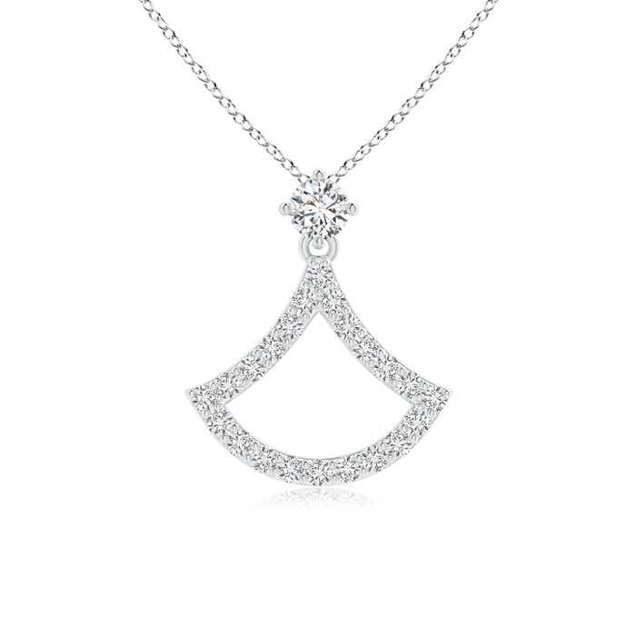 Angara Polished Star Diamond Circle Dangle Pendant efAEc
