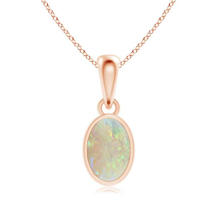 Angara Solitaire Opal Open Heart Pendant in Rose Gold fHhCH