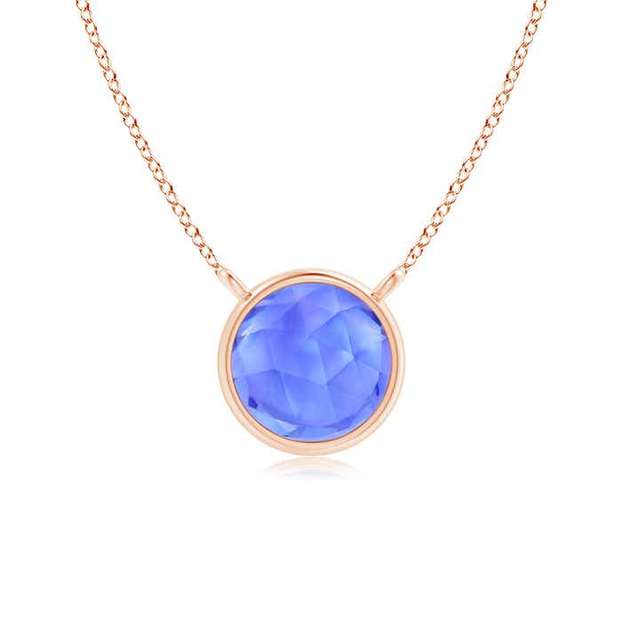 Angara Solitaire Tanzanite V-Bale Pendant in Rose Gold JytqO63