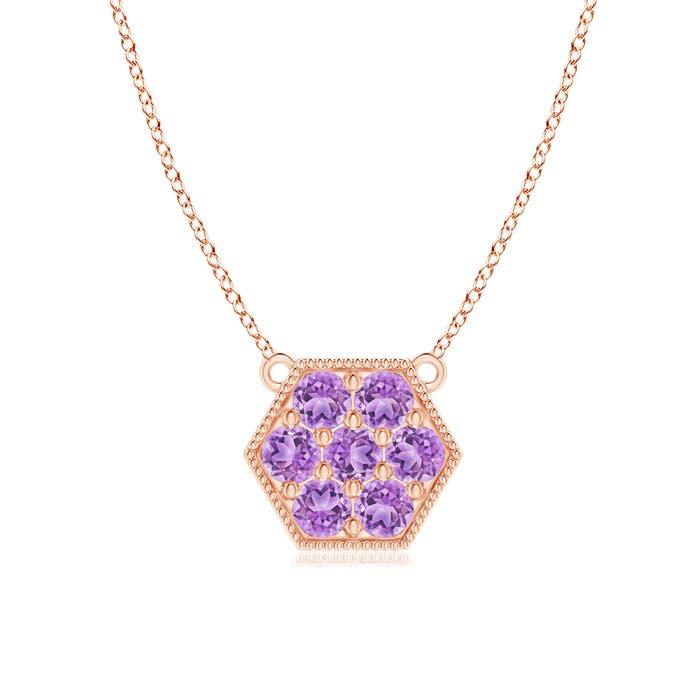 Angara Amethyst Calla Lily Pendant Necklace with Diamond Accents jCwnlrrczH