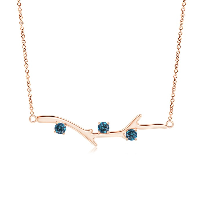 Angara Prong-Set Blue Diamond Tree Branch Necklace RlAIUnL6j