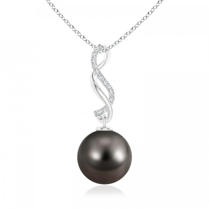 Angara Tahitian Cultured Pearl V-Bale Pendant with Diamond yeOut