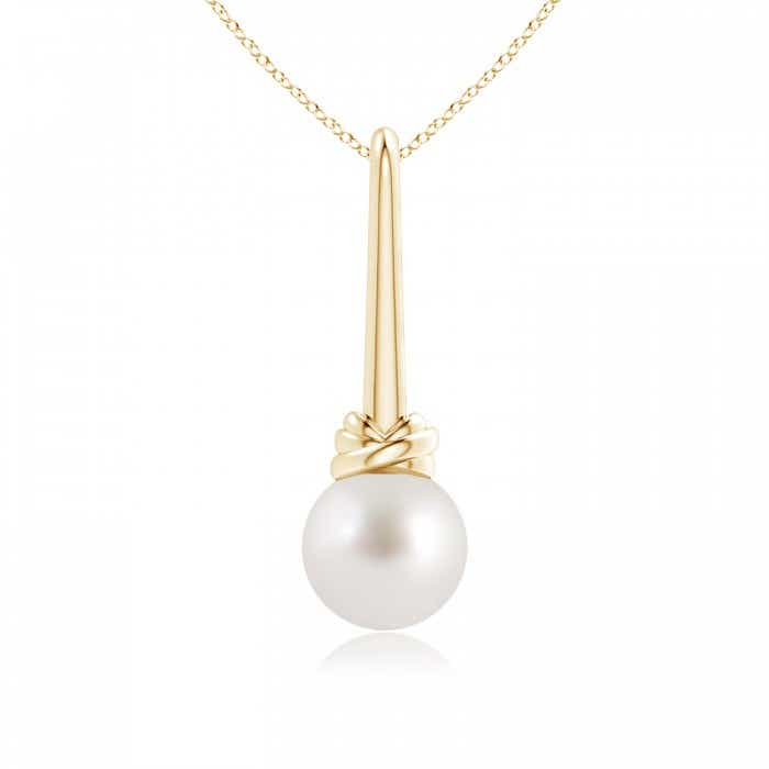 Angara South Sea Cultured Pearl Pendant with Diamond Bar Bale DEru0DBxt
