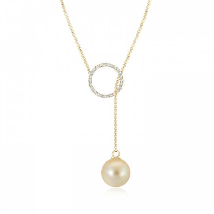 Angara Cultured Pearl Triple Drop Pendant CJYM6bKUL