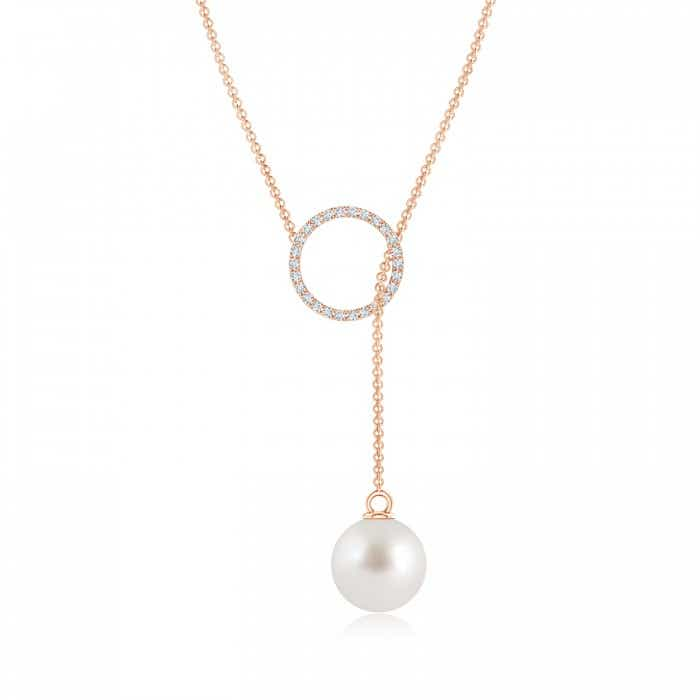 Angara South Sea Cultured Pearl Lariat Necklace with Diamond Ppy8Jm