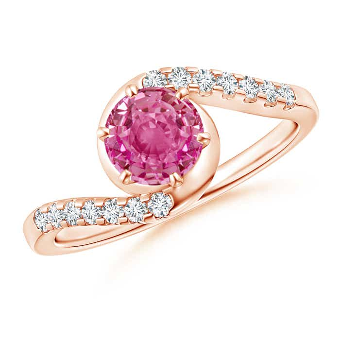 Angara Prong Set Pink Tourmaline Bypass Ring in 14K Rose Gold ydY0xmjs3j