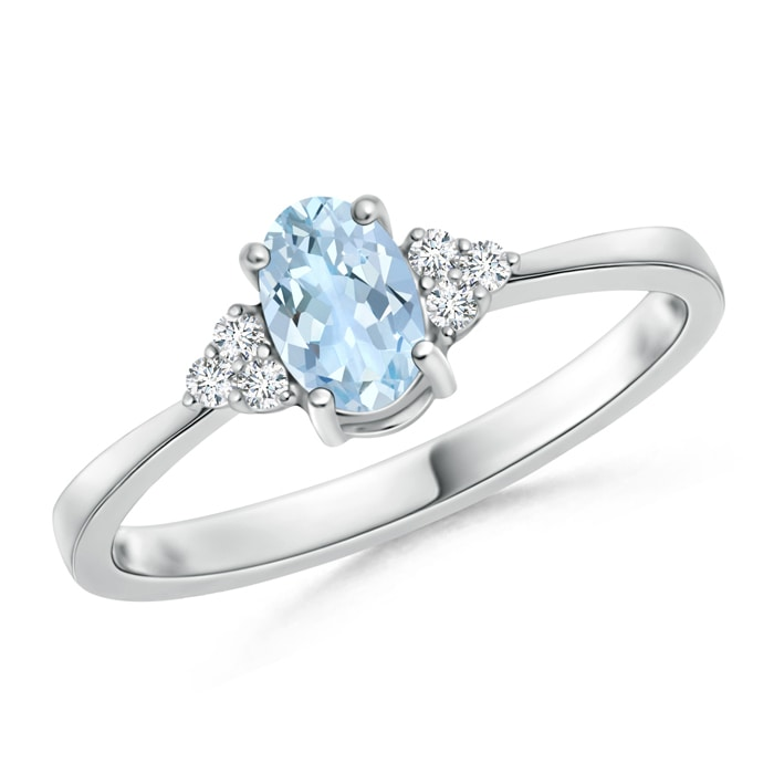Angara Solitaire Blue Sapphire Bypass Promise Ring in Yellow Gold