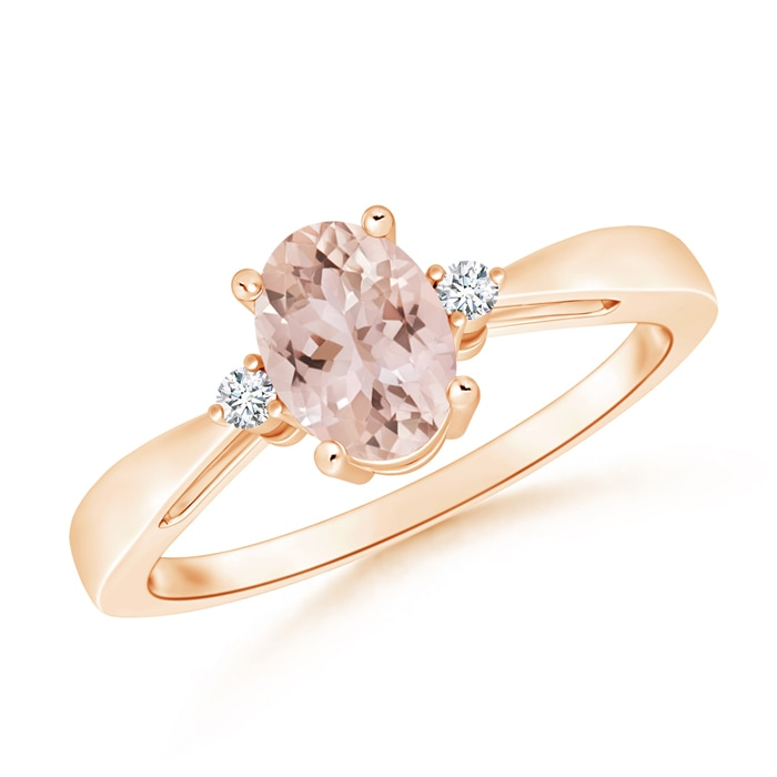 Angara Tapered Shank Opal Solitaire Ring with Diamond Accents jXg5SoU1