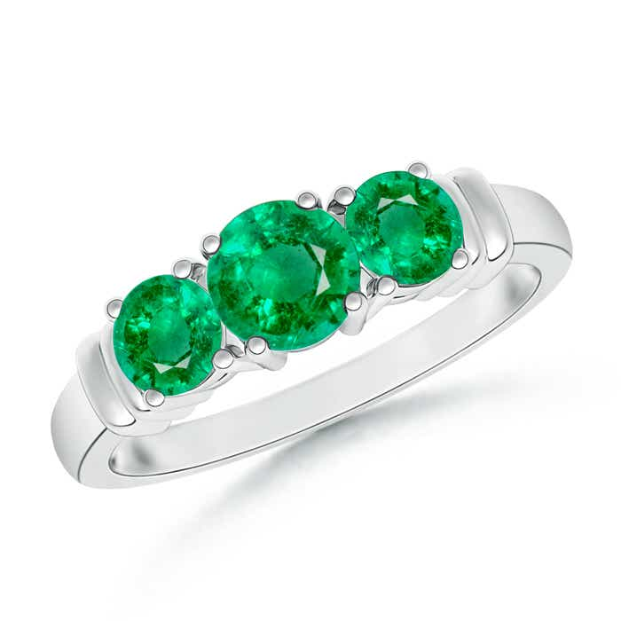 emeralddiamond ring diamond stone and emerald gold three white