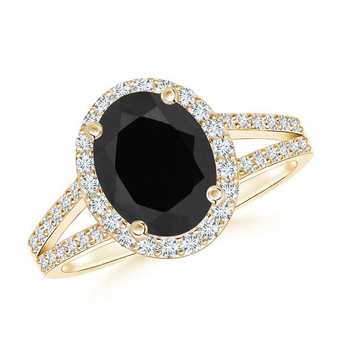 Angara Black Onyx Ring in Yellow Gold OVvXhMGaeR