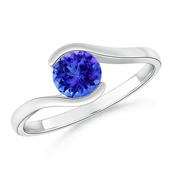 Angara Classic Round Tanzanite Solitaire Ring in Rose Gold o7VUuiFmY5