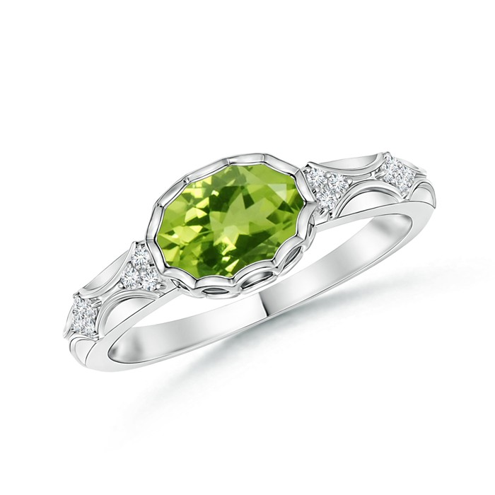 Angara Vintage Peridot Engagement Ring in Rose Gold tV1hNfiOe