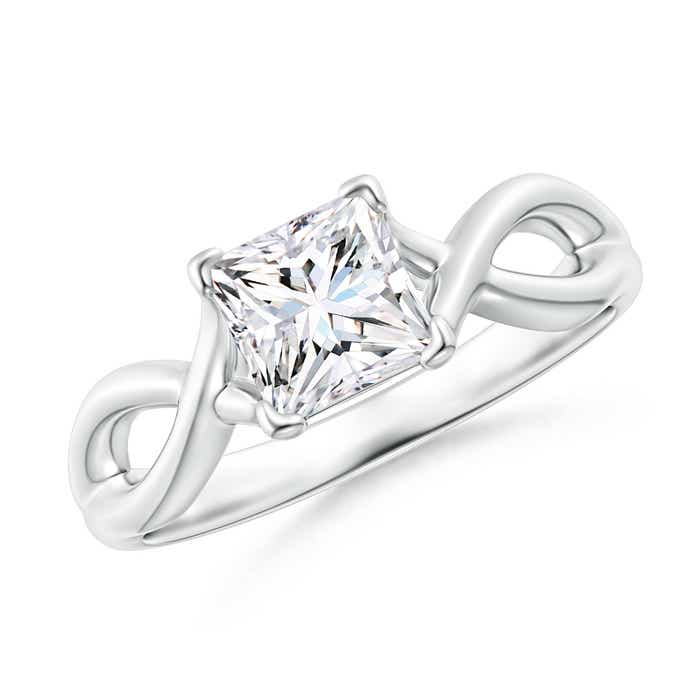 Angara Solitaire Moissanite Ring in 14k Yellow Gold SvdrdkU