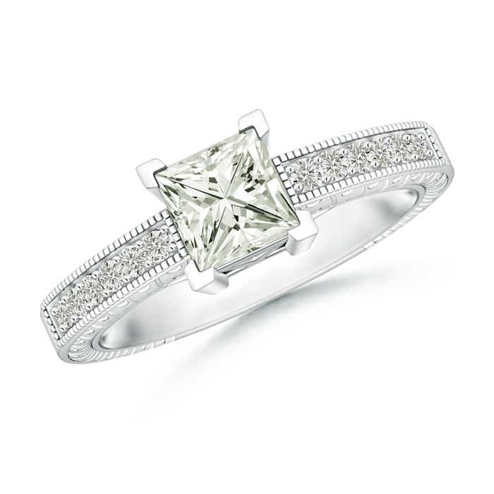 Angara Moissanite Solitaire Ring in Platinum