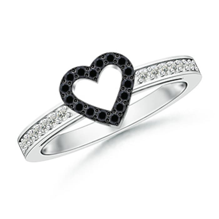 Angara Infinity Knot Solitaire Enhanced Black Diamond Ring in White Gold m9CHcZ