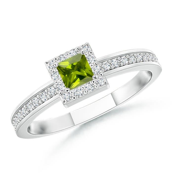 Angara Peridot Wedding Rings Sets in Yellow Gold 53rEmH2