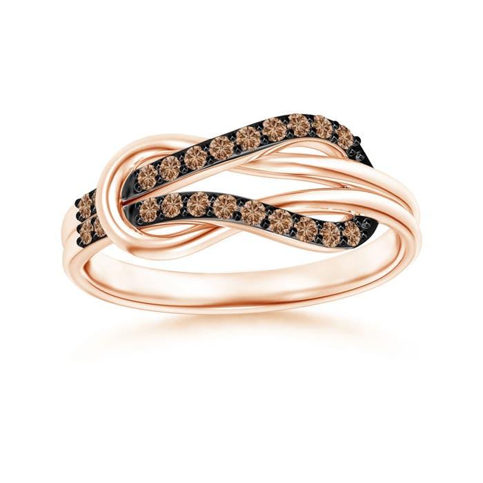 Angara Infinity Love Knot Solitaire Diamond Ring PWWKIEZ7Ow