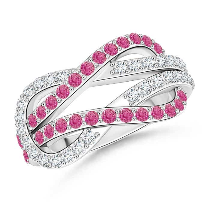 Angara Pink Sapphire Infinity Knot Ring yMs2HdyKX