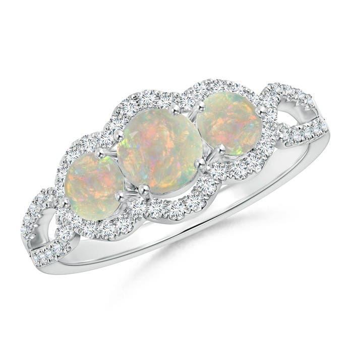 Angara Floating Diamond Halo Tanzanite Split Shank Ring in 14k Rose Gold prYXuP
