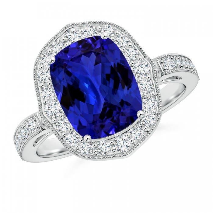 Angara Classic Tanzanite Solitaire Ring (GIA Certified Tanzanite) iIGCnr