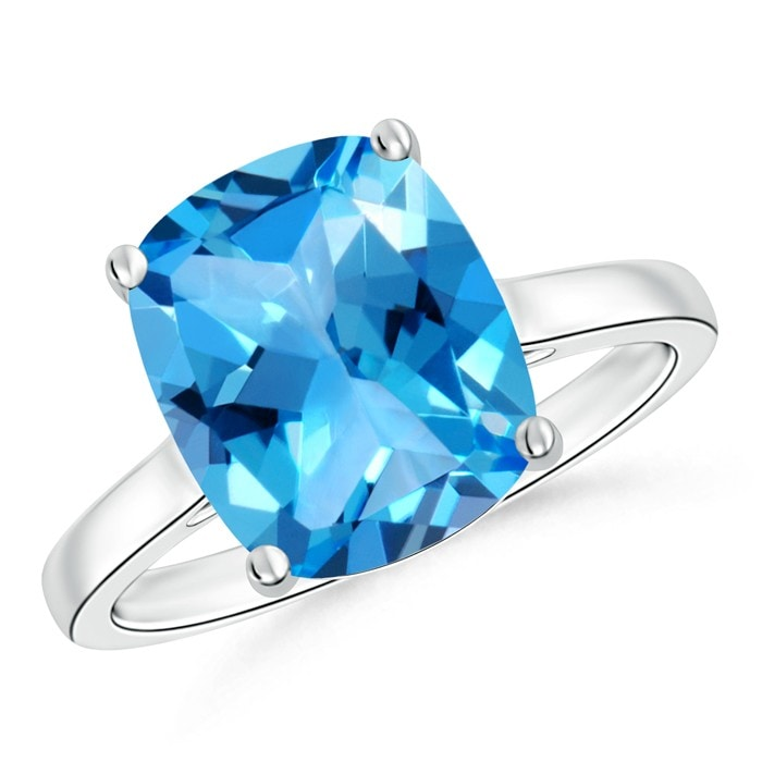 Angara Vintage Swiss Blue Topaz Cocktail Ring in Rose Gold cO46i