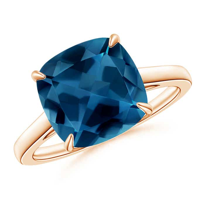 Angara London Blue Topaz Cocktail Ring in Yellow Gold srdG4Kww