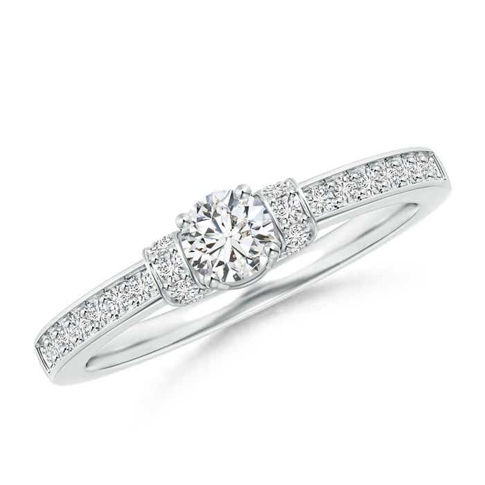 Angara Prong Set Round Diamond Solitaire Ring CtD6wsn