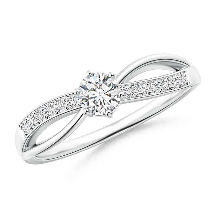 Angara Six Prong-Set Solitaire Diamond Bypass Promise Ring lVV9GrZM