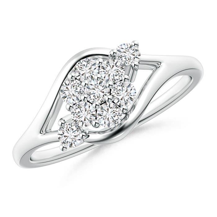 Angara Composite Round Diamond Bypass Ring vWJ2vSpc