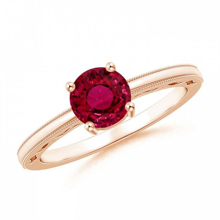Angara Ruby Diamond Cathedral Halo Ring (GIA Certified Ruby) 3BVzMj