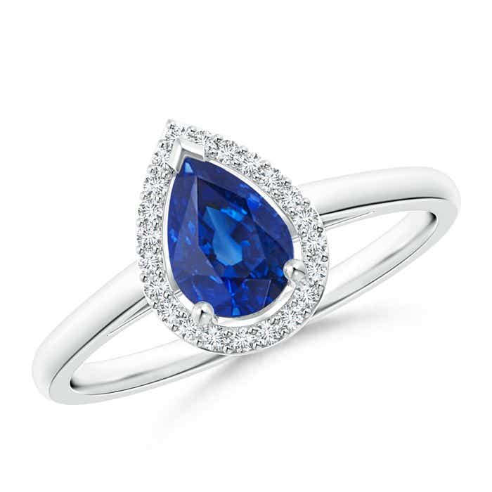 Angara Sapphire Cocktail Engagement Ring in Platinum Ws4uKwpJ1u