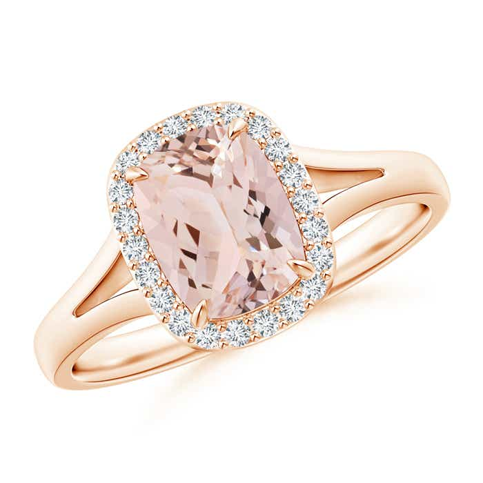 Angara Double Prong-Set Morganite Cocktail Ring in Rose Gold v5oGDYYQ